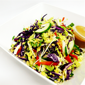 Asian Slaw Salad with a Chilli Asian inspired Dressing (v,gf)
