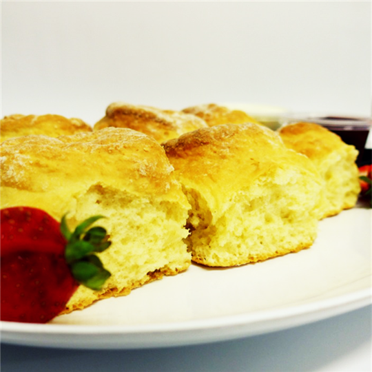 WHOLE Scone Plain with tubs of house-made jam and cream - ON PLATTERS(min 6)