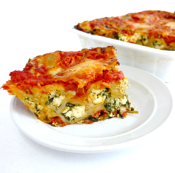 Cannelloni - Spinach & Ricotta served hot and 2 salad
