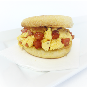 English Muffin: Bacon and egg