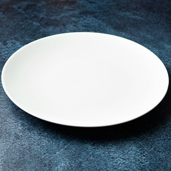 White Entree plate (ex)