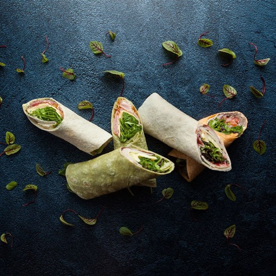 Gourmet filled wrap - daily selection of fillings (ex)
