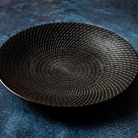 Black side plate (ex)
