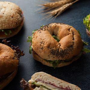 Gourmet filled artisan rolls - to include 10% veg (ex)