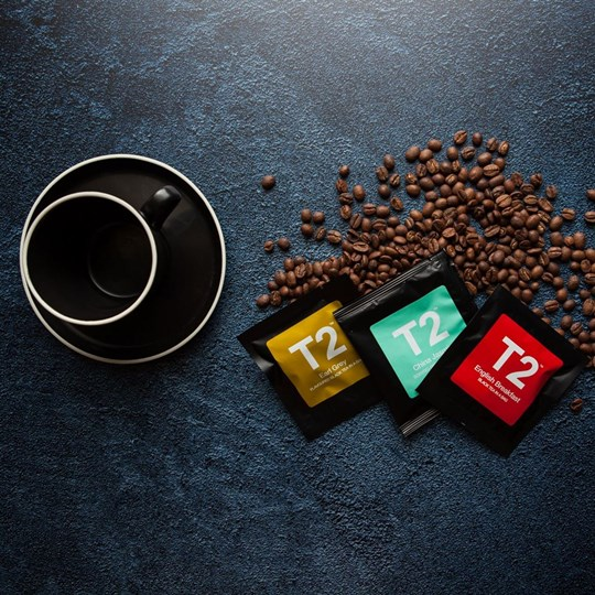 Percolated coffee & T2 tea - with disposable ware or crockery (ex)