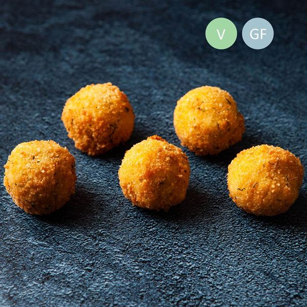 Pumpkin, sage & parmesan arancini (v/gf) - delivered WARM(ex)
