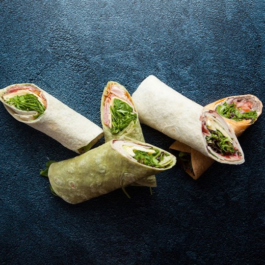 Gourmet filled wrap - Individually Boxed (ex)