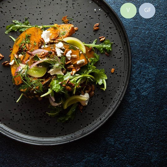 Roast pumpkin, red onion, feta, verjuice (v/gf) - share bowl (ex)