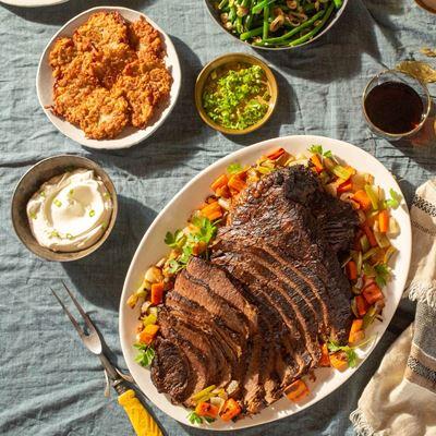 Beef Brisket Chanukah Dinner