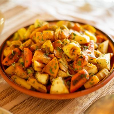 Roasted Butternut Squash and Root Vegetables