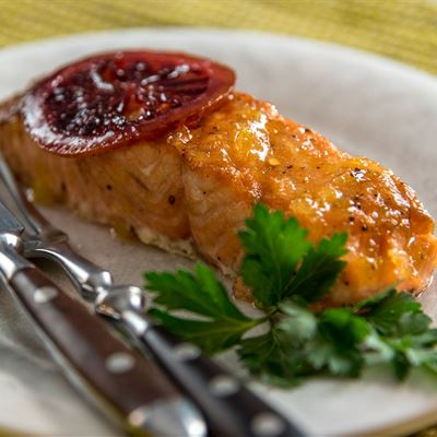 Citrus Glazed Grilled Salmon Family Meal