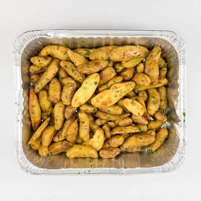 Roasted Fingerling Potatoes with Herbs and Crispy Garlic