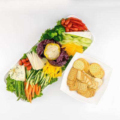 Vegetable Crudites with Cheese Platter