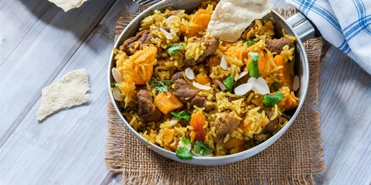 Lamb & Sweet Potato Curry with Steamed Rice (400g) GF DF