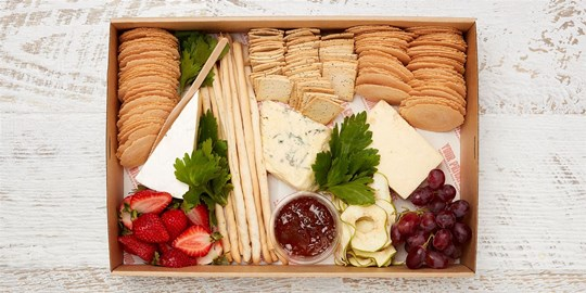 Platter - Platinum cheese and fruit (serves 5-8)