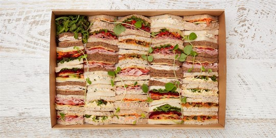 Platter - Sandwiches anyone? (36 pieces) - Executive points with assorted fillings