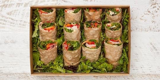 Gluten Free Wrap  with gourmet fillings Platter Box