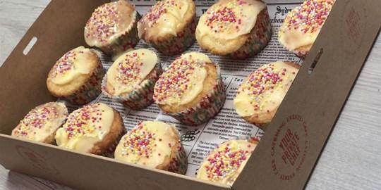Platter - Kids Vanilla Cupcake Sprinkle Box (12 pieces)