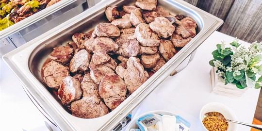 Platter - Grass-fed mini porterhouse fillet steaks in steak seasoning (gf, df) (100g)  (18 piece)