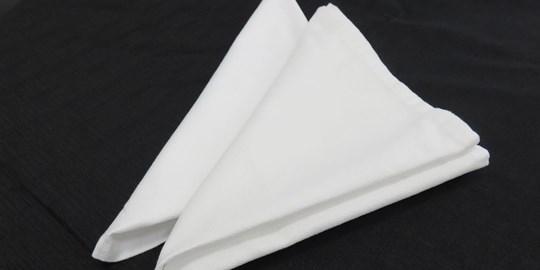 Hire - Napkins - Linen (WHITE)