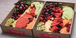 Christmas Fruit & Cheese Platters