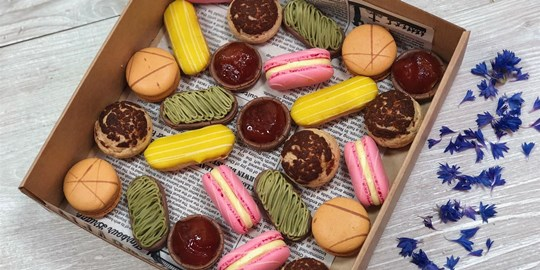 Assorted French Mini Petit Fours Box (25 pieces)