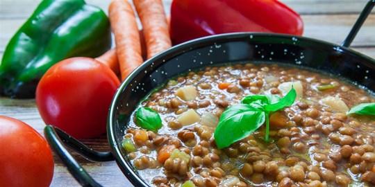 Hearty lentil & Vegetable Soup (400g)  (DF, GF, V)
