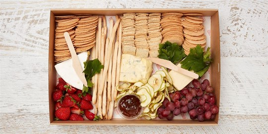 Platter - Platinum cheese and fruit (serves 10-12)