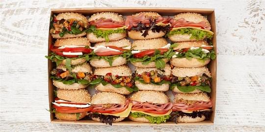 Ciabatta Breakfast box - variety platter (Mini) (Cold)