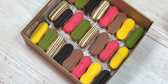 Baby French Eclairs Box - (contains nuts)