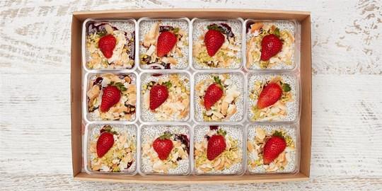 Chia Seed Pudding Box (vegan, gf, df)