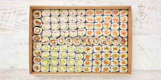 Platter - Just Sushi (100 pieces) (DF)