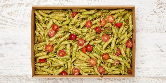 Salad Medium - Classic Pesto pasta salad (v)