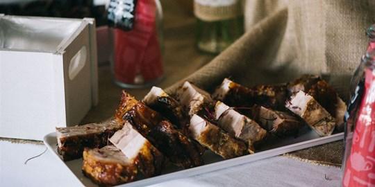 Platter - Crisp Skin Cold Sliced Pork Belly  (Serves 10 -15)