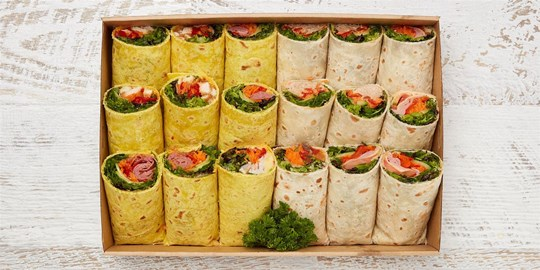 Wrap Box with gourmet fillings