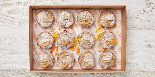 Muffin Box - Gluten free banana & maple muffin platter (large)