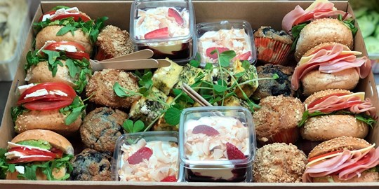 Breakfast variety platter to share - Box Collection (cold)