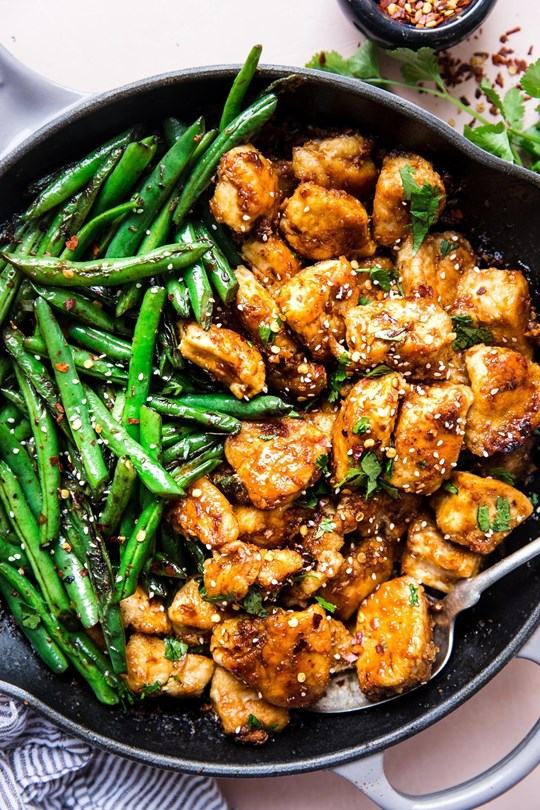 Asian Chicken & vegetable stir fry with steamed rice