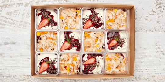 Granola & Berry Parfait Box Combo Platter