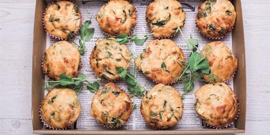 Muffin Box - Savoury collection platter (12 large muffins)