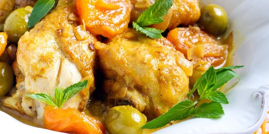 Apricot Chicken and Steamed Rice (400g) GF