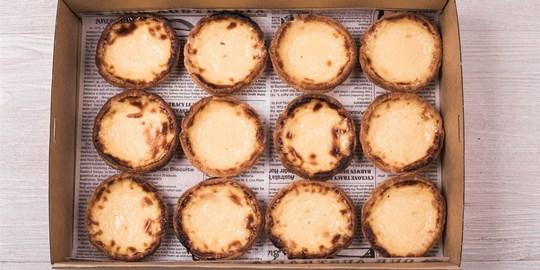 Portuguese custard tart box