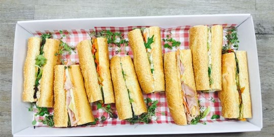 Platter- French Connection platter 13cm baguettes with assorted fillings