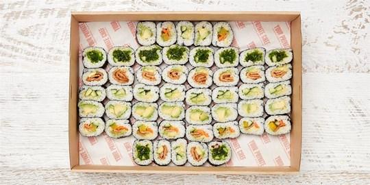 Platter - Vegetarian Sushi Box (50 pieces)