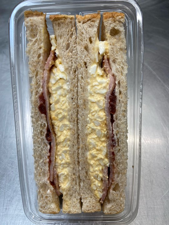 Jasbe Egg & Bacon Sandwich on White (base)
