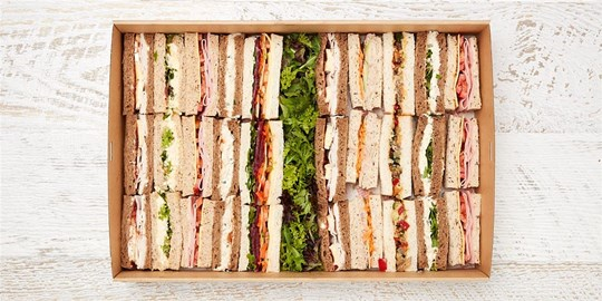Platter - Classic Finger Sandwiches (30 pieces) - with various gourmet fillings
