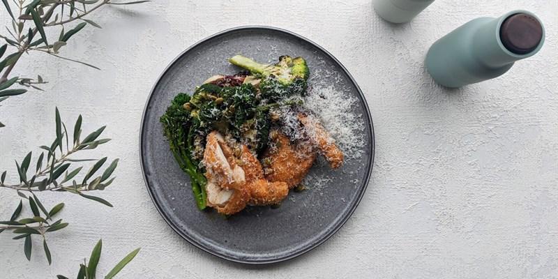 Black Garlic Kiev & Broccoli Salad