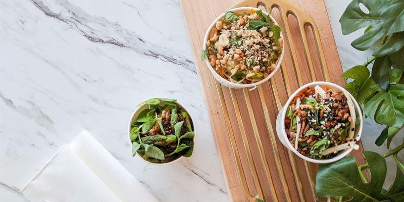 Individual Salad Pails - Vegetarian
