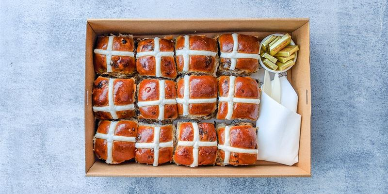 Hot Cross Bun Box