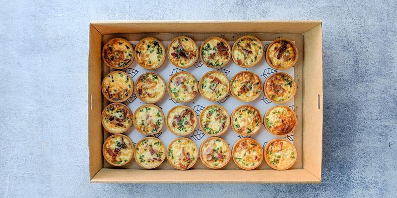 Egg and Bacon Tart Box